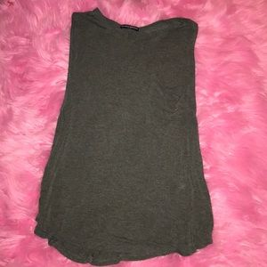 Brandy Melville charcoal gray sleeveless tee